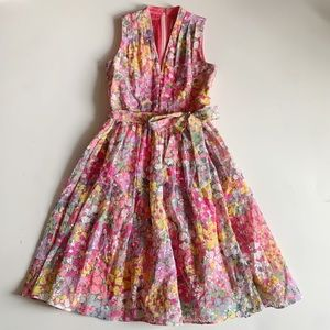 Kate Spade Floral Dots Burnout Sleeveless Dress 4